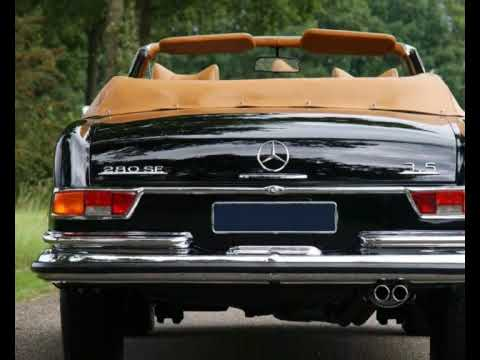 1971 mercedes-benz 280 se 3.5 v8 convertible (photo video with