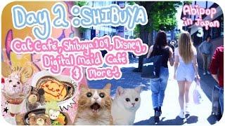 WONDERLAND CAT CAFÉ!??♪ | Day 2 - Shibuya, Cat Café, Maid Cafe, Disney! | Abipop in Japan 3 - 2017 ♡
