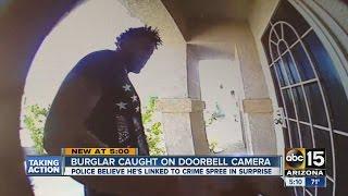 Burglar caught on doorbell camera