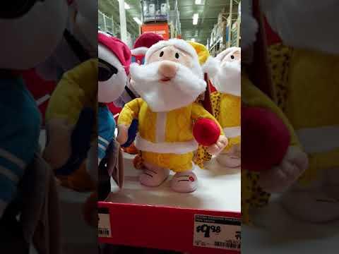 Crazy stuffed singing Christmas dolls @Home Depot