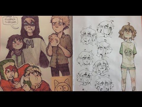 Sketchbook Tour #3  part 1 (2017)