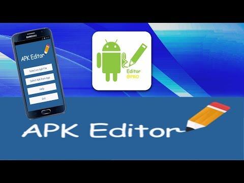 Mover las aplicaciones internas a la tarjeta SD / Apk Editor