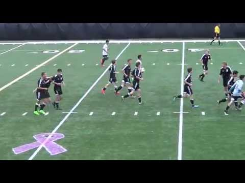 Following the keeper's terrific stop on Christian Arita's '15 free kick, EJ Salamone '15 corralled the rebound and floated a perfect pass through traffic to Justin Miller '16, who was sandwiched between two defenders in front of the goal.