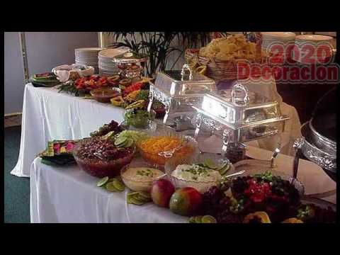 Decoracion de mesa para buffet youtube - Como decorar mesas para fiestas ...