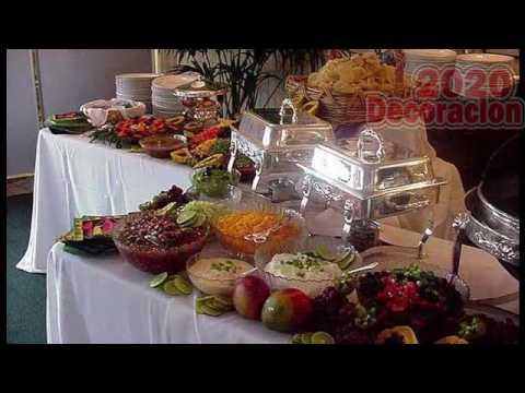 Decoracion De Mesa Para Buffet  YouTube