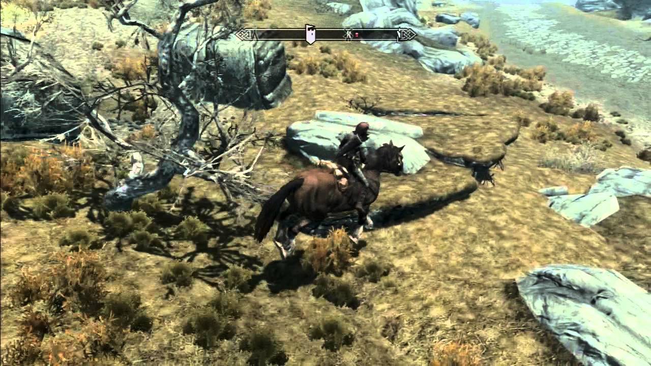 Skyrim - Horsing About, Glitch, Perfect Dismount