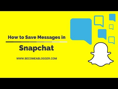 How to Save Messages in Snapchat