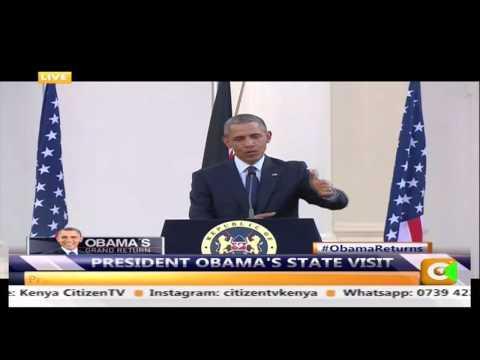 Obama  and Kenyatta on gay rights