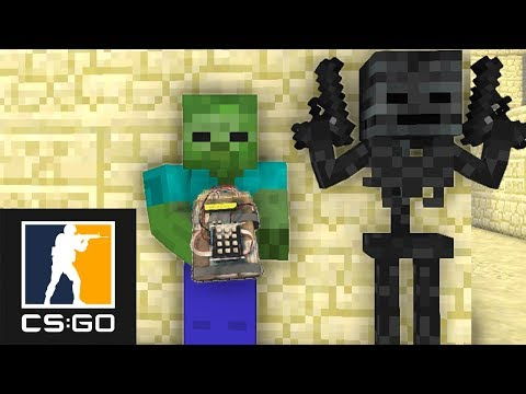 Monster School : CS:GO GRANNY HORROR GAME CHALLENGE - Minecraft Animation