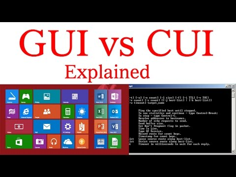 GUI vs CUI - Graphical User Interface and Character User Interface