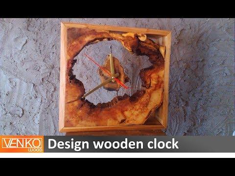 Design wooden clock