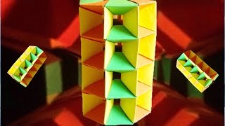 Twisted Tower de Origami -Tutorial