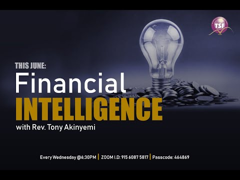 Wisdom For Living | Financial Intelligence Pt1 | Rev Tony Akinyemi | TSF Church