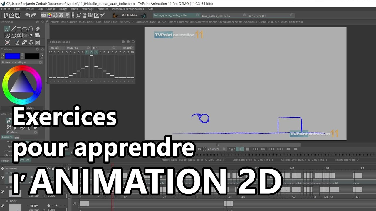 Comment Apprendre L Animation 2d Exercices Youtube