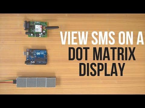 SMS Monitor || Dot Matrix Display || MAX7219 || SIM800L: 8