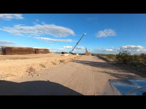 US/Mexico Border Wall Replacement, Lukeville, Arizona, Sonoyta, Sonora, Mexico, 9 Jan 2020, GX010195