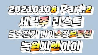 2021018 세력주리스트 Part2 금호전기 나이스정…