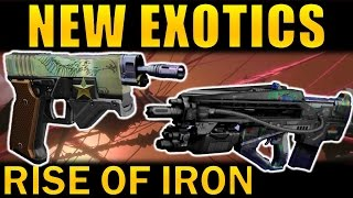 Destiny: new rise of iron exotics | sidearm, warlock boots, & siva pulse rifle!