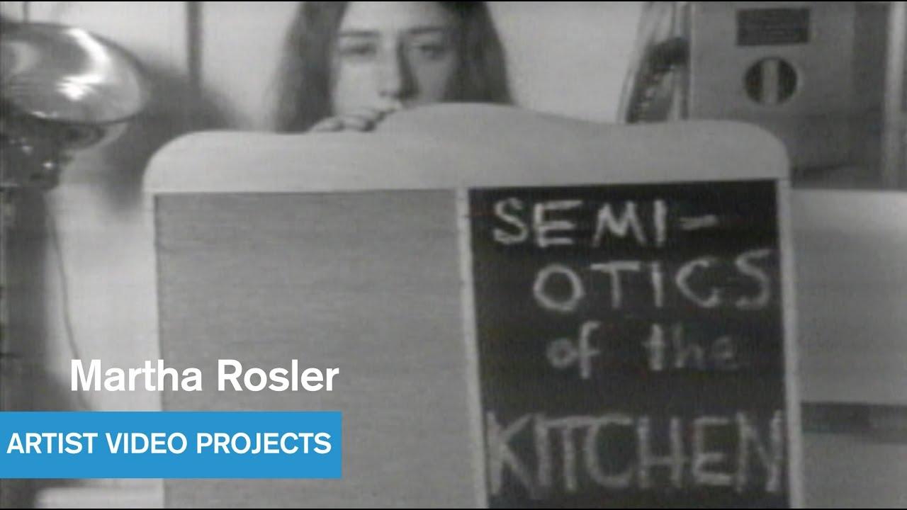 martha rosler - semiotics of the kitchen - west coast video art