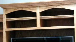 Customtouch Woodworking  Oak Entertainment Center