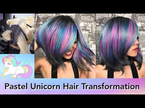 Pastel Unicorn Hair Transformation
