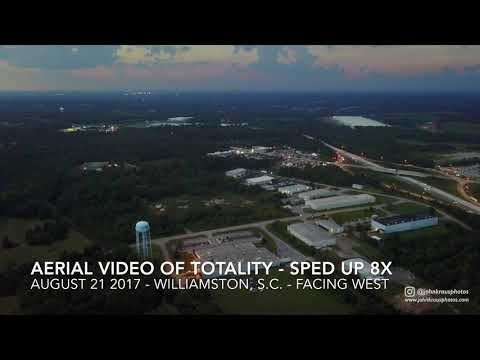 Aerial timelapse of totality over Williamston S.C. -- August 21 2017