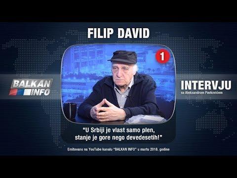 INTERVJU: Filip David - Vučić nema pravu opoziciju, stanje je gore nego devedesetih! (19.03.2018)