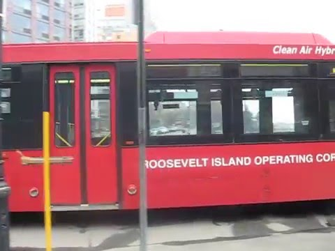 Roosevelt Island Operating Corporation bus at West Main Street