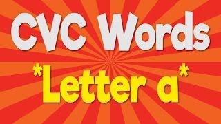 CVC Words | Letter a | Consonant Vowel Consonant | Phonics Song | Jack Hartmann