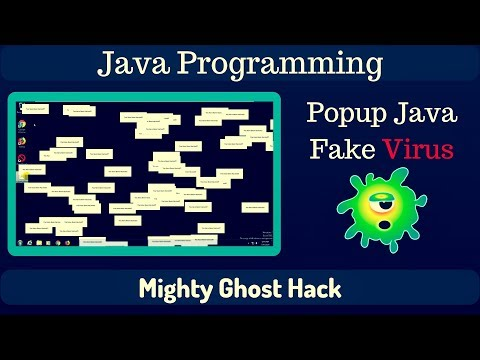 Popup Virus  | Block Keyboard & Mouse Action | Java Program | Prank