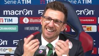 """Di Francesco: """"Quando è entrato mio figlio, ho avuto paura"""" - Giornata 9 - Serie A TIM 2016/17"""