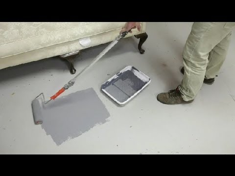 easy ways to paint concrete floors concrete floors youtube. Black Bedroom Furniture Sets. Home Design Ideas