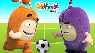 Oddbods Brasil   HORA DO FUTEBOL   Desenhos Divertidos