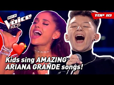 Would ARIANA GRANDE turn for these young singers in The Voice Kids? 😍   TOP 10