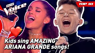Would ARIANA GRANDE turn for these young singers in The Voice Kids? 😍 | TOP 10