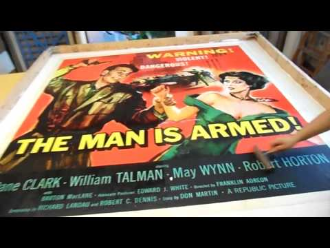 The Man Is Armed - 6 sheet Linen Backing