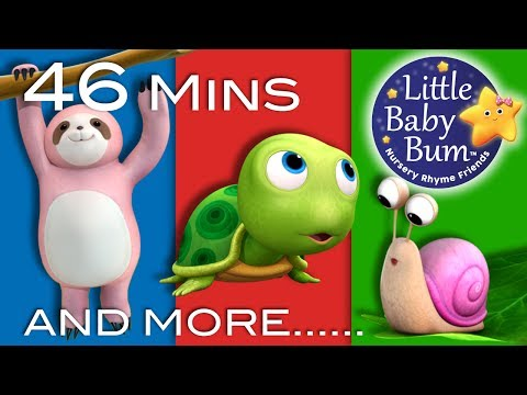 Things That Go Slow | Plus Lots More Nursery Rhymes | 46 Minutes Compilation from LittleBabyBum!