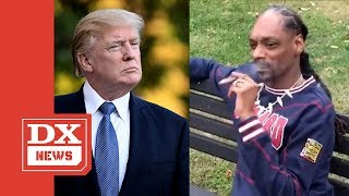 "Snoop Dogg Smokes A Blunt In Front Of The White House & Says ""F*ck Donald Trump"""