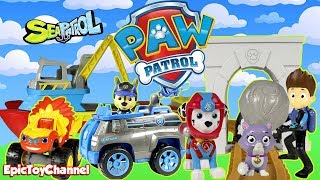 Paw Patrol Nickelodeon Mission Paw Rescues Cute Kitten with Paw Patrol Sea Patrol and Sea Patroller