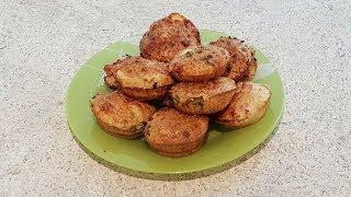 Рецепт: пирожки с луком и ветчиной - ПП версия
