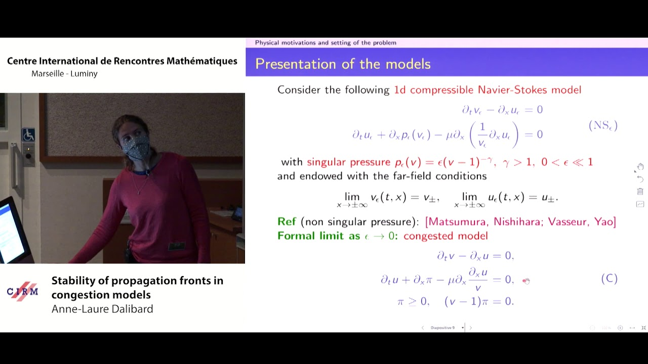 Anne-Laure Dalibard: Stability of propagation fronts in congestion models