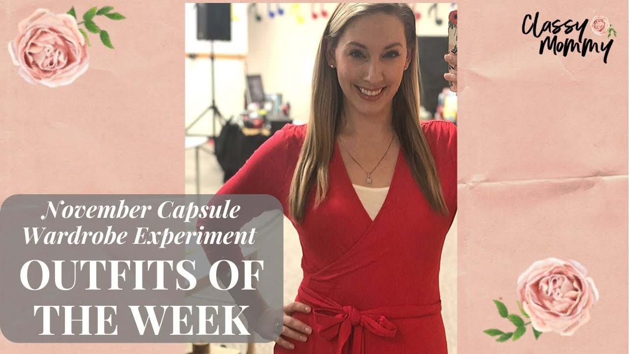 [VIDEO] - Capsule Wardrobe Challenge: Outfits of the Week Mom Teacher Edition 1