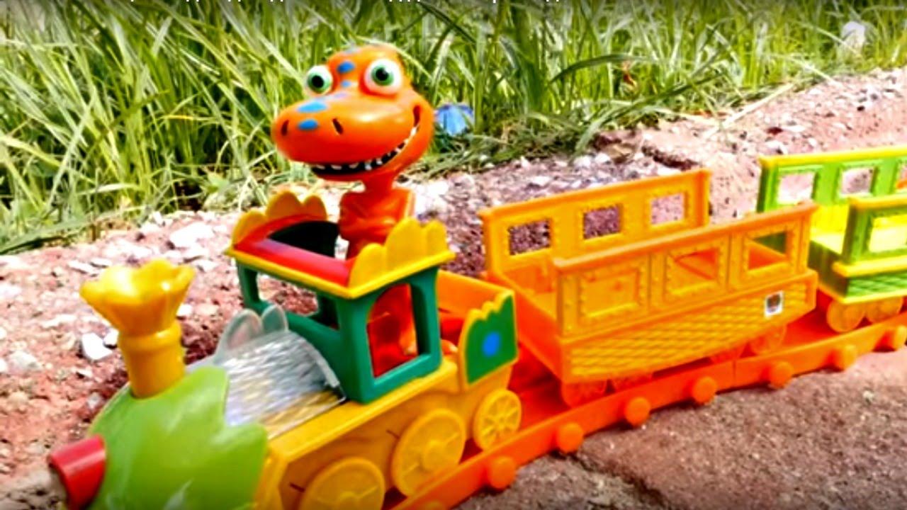 Поезд-динозавров игрушки