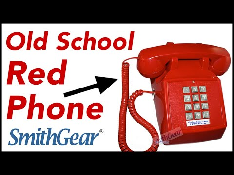 Cortelco 2500 Red Desk Phone With Ringer Light