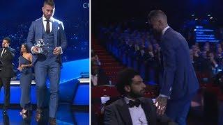 👀 Mo Salah isn't impressed when Sergio Ramos touches his shoulder