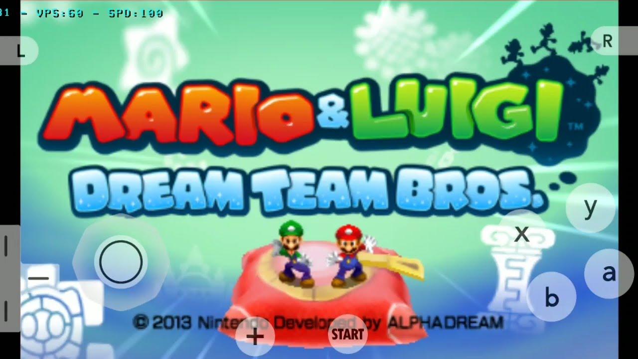 Mario Luigi Dream Team Bros 3ds Galaxy S10 Citra Android 3ds