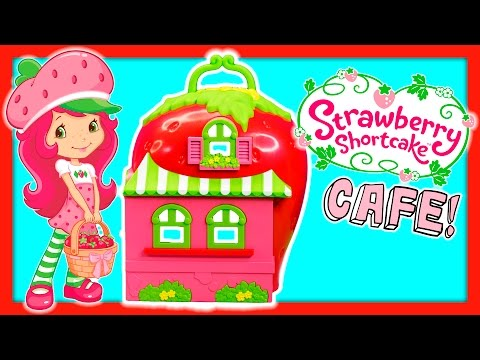 STRAWBERRY SHORTCAKE Strawberry's House and Cafe Berry Cafe with Plum Pudding Toy Video