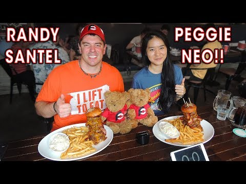 Singapore Terminator Burger Challenge w/ PEGGIE NEO!!