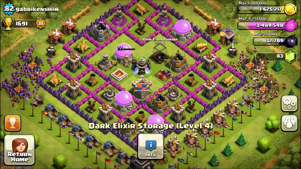 Coc 89th th8 defense 2in1 def with new hybrid base design youtube