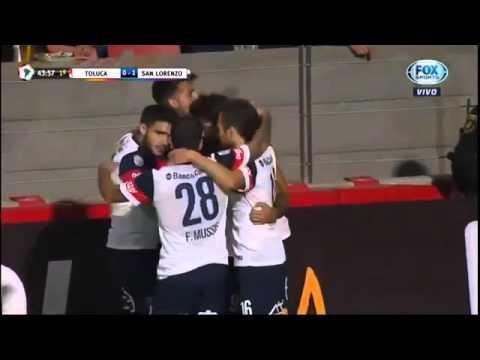 toluca 2x1 san lorenzo gols libertadores 12/04/2016